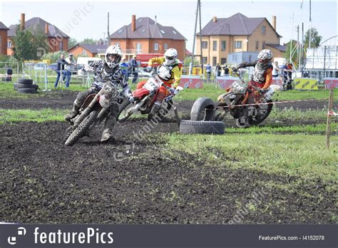 Racers On Motorcycles Participate In Cross-country Race Competition Picture