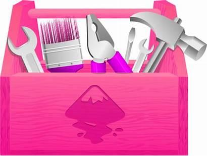 Toolbox Tool Clipart Clip Box Tools Pink