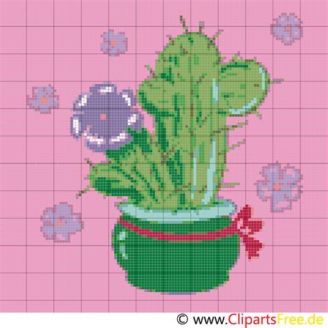 kreuzstichvorlagen zum ausdrucken kaktus