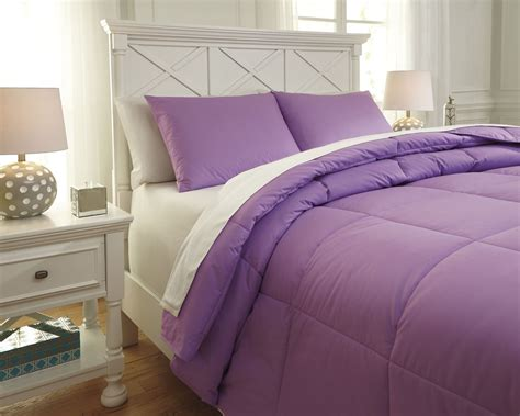 Plainfield Lavender Twin Comforter Set From Ashley