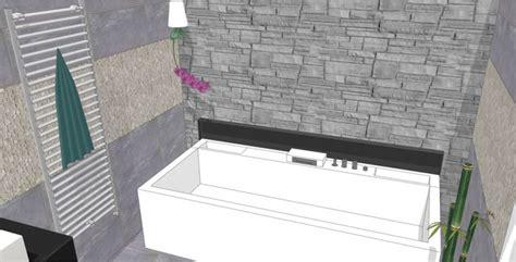 salle de bain duravit baignoire baln 233 o naho de duravit et mur en de parement une salle de bain chic et zen