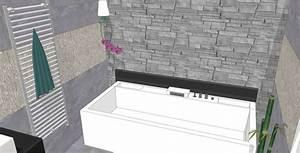 Parement Salle De Bain : baignoire baln o naho de duravit et mur en pierre de ~ Dailycaller-alerts.com Idées de Décoration