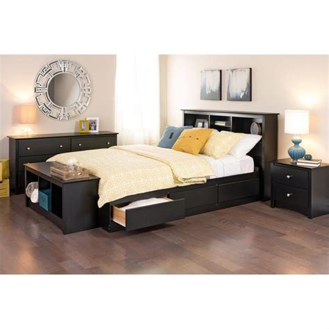 prepac bedroom furniture sets the versatile sonoma black six drawer dresser features a