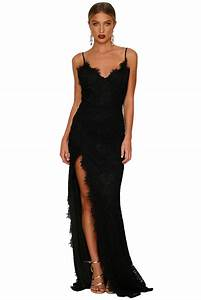 black yum lacy lace bridal wedding gown charming wear With robe de soirée noire longue