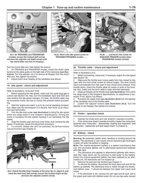 Honda Trx Repair Manual