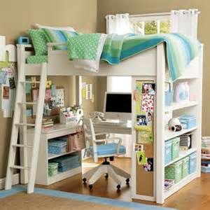 lovely pottery barn loft bed with memo board desk and bookshelf similar free designs are