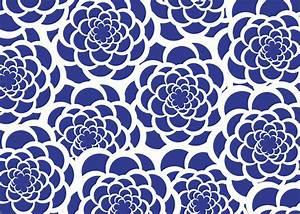 Navy Blue Floral Pattern