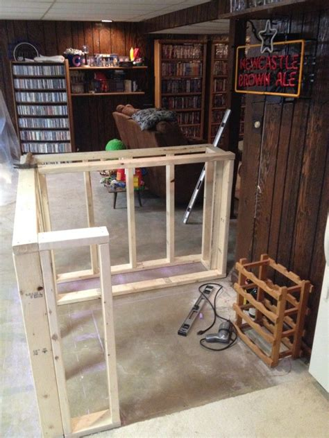 How To Make A Bar by Bar Frame Before The Front Cabinet Is Added Basement
