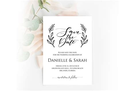 Save the Date Invitation Save the Date Template (348152