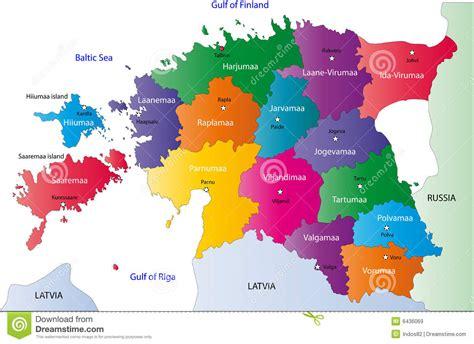 Carte De Image Libre by Carte De L Estonie Images Libres De Droits Image 6436069
