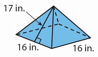 Surface Area Nets Pyramid Square Worksheets Worksheet