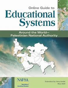 Guide To Educational System  Palestinian National Authority