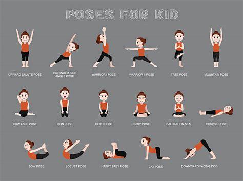 yoga warrior illustrations royalty  vector graphics