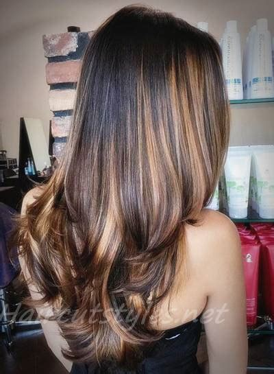 black hair  highlights ideas  hair highlights