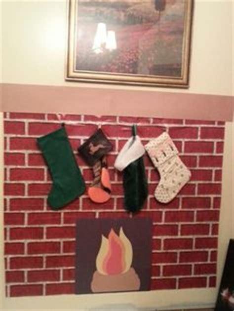 hooks for stockings on brick construction paper fireplace paper fireplaces and construction