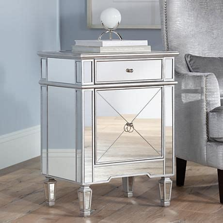 small mirrored accent table mackenzie 21 1 2 quot wide mirror accent table nightstands
