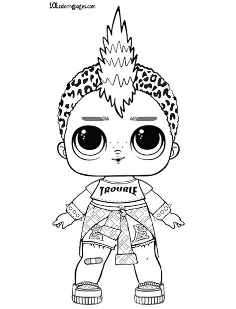 image result  lol surprise coloring sheets punk boy
