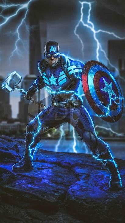 Thor Captain Endgame Hammer America Avengers Iphone