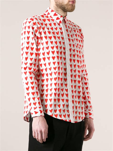 sleeve dotted shirt lyst print shirt in for