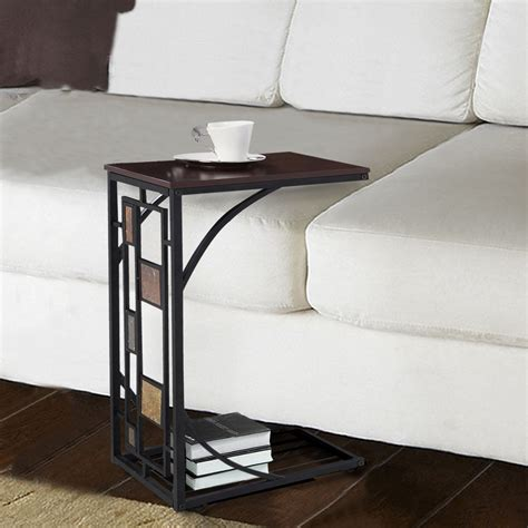 c shaped console table c shaped table for sofa c shaped sofa end side table