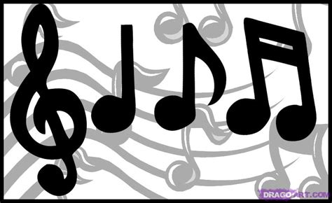How to Draw Music Notes Drawings