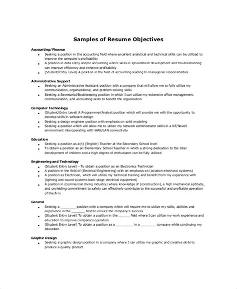 18 sle resume objectives free sle exle