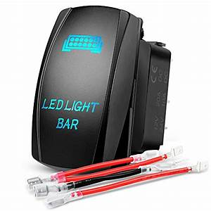 Nilight Led Light Bar Rocker Switch Holder Panel Switch