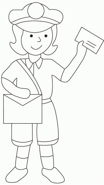 Coloring Postman Mailman Mail Pat Facteur Sheets