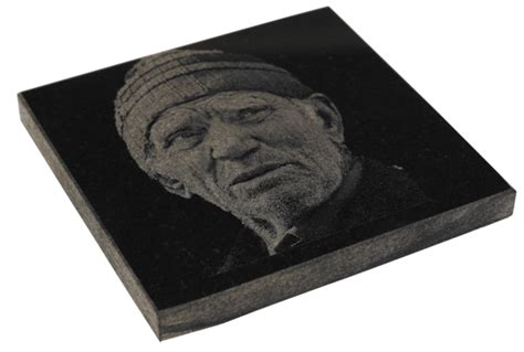 laser engraving etching on granite marble