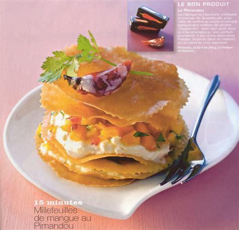 cuisine gourmande magazine millefeuilles de mangue au pimandou recette