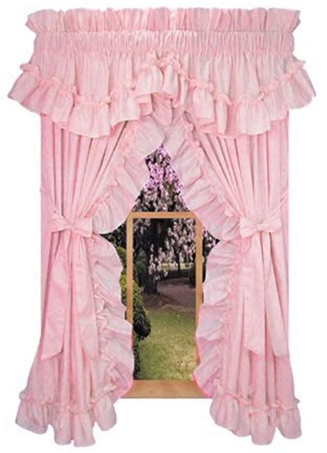 pink ruffled window curtains 25 best ideas about priscilla curtains on