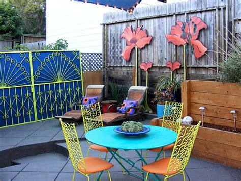 transforming patios with paint and colorful accents diy