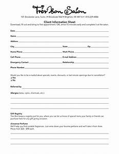 27 images of salon client forms template infovianet With client information form template free download