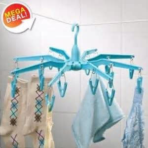 24 Plastic Hangers & Clothes Rack with Pegs Rs. 165