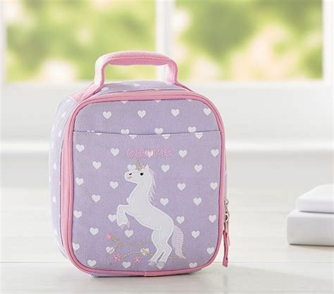 pottery barn bag classic critter unicorn lunch bag pottery barn