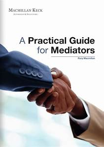 Pdf  A Practical Guide For Mediators
