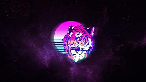 tiger retro neon art wallpapers hd wallpapers id