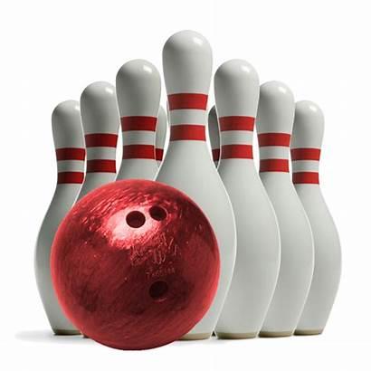 Bowling Transparent Ball Pins Clipart Single Strike