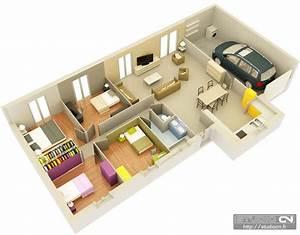 resultat de recherche d39images pour quotplan maison 3d 3 With plan maison en longueur 1 plan maison 3d dappartement 2 piaces en 60 exemples