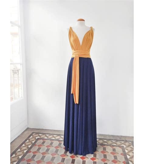 two color dress two tone infinity bridesmaid dress gala essential