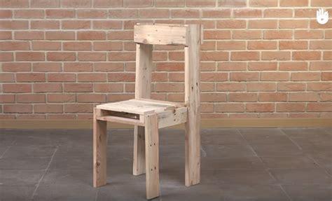 fabriquer chaise en bois tutoriel fabrication d 39 une chaise avec des palettes