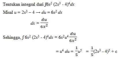contoh soal integral tentu tak tentu substitusi parsial