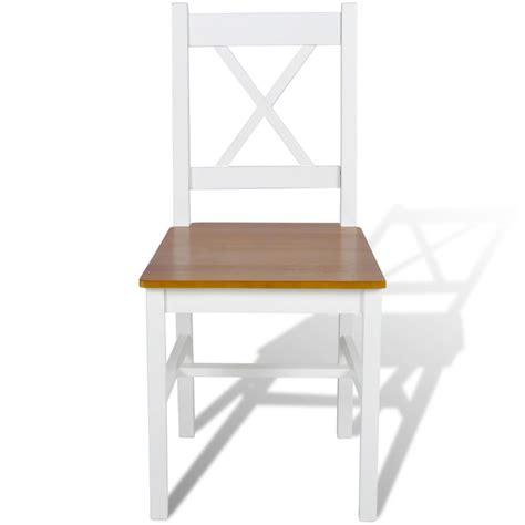 chaise en bois blanc acheter 4 pcs chaise salle à manger en bois blanc et