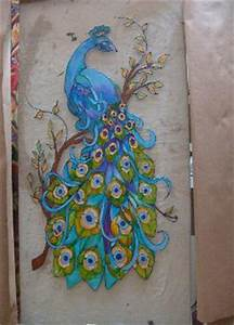 Peacock Outline For Glass Painting