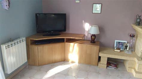 Conception Et Fabrication D'un Meuble Tv D'angle Sur