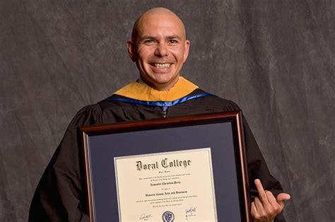 photo  pitbull holding  honorary degree