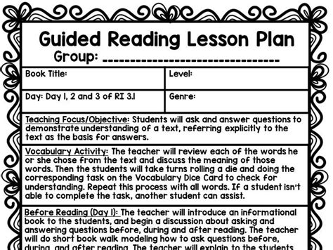 guided reading lesson plan kiser s shop teaching resources tes
