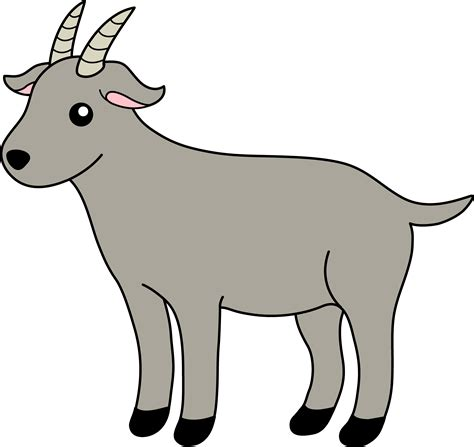 gray billy goat  clip art