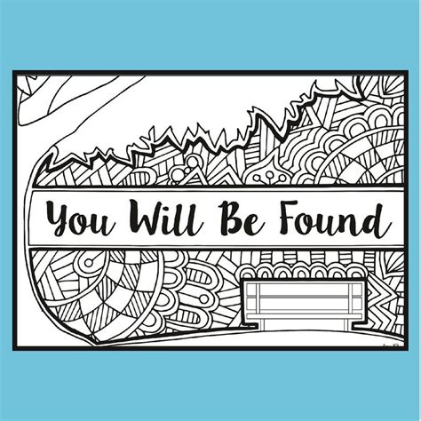 """Get your free printable musical instruments coloring sheets and choose from thousands more coloring pages on allkidsnetwork.com! Dear Evan Hansen """"You Will Be Found"""" - Coloring Pages   Coloring Broadway"""