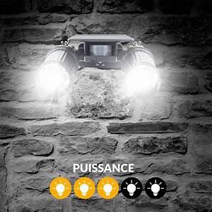 Projecteur Exterieur Double : double projecteur solaire led twinspot black beesolar ~ Edinachiropracticcenter.com Idées de Décoration